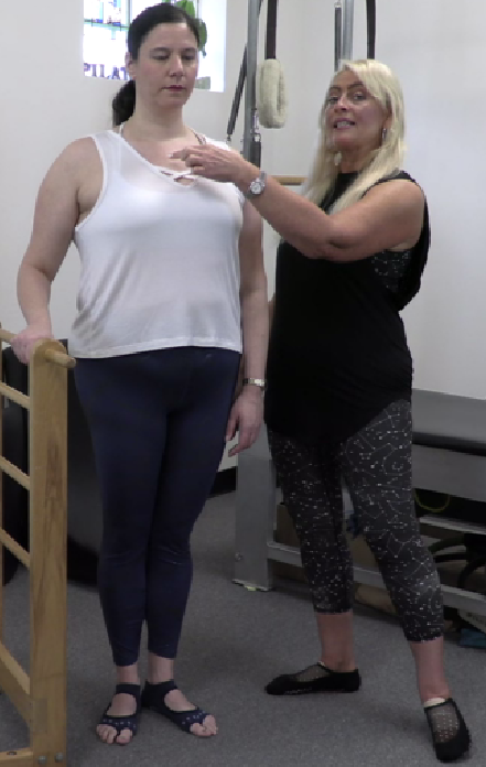 Sabrina Vaz and Dr. Jessica Pizano performing foot and ankle exercises